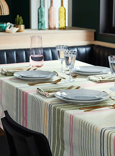 Catalogne blanket stripe tablecloth