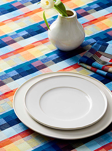 Graphic sheen pure cotton tablecloth
