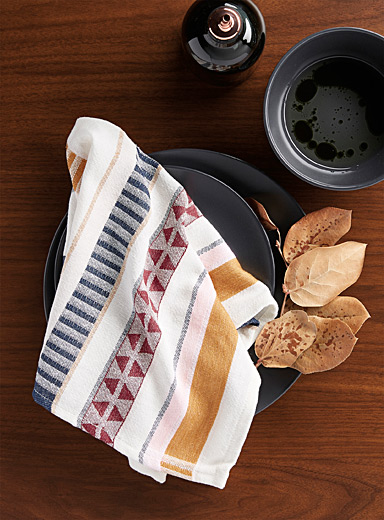 Creative stripe napkin