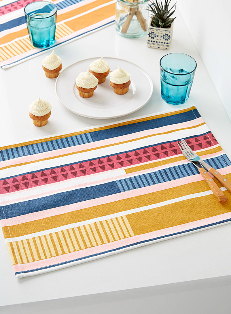 creative-stripe-cotton-canvas-placemat