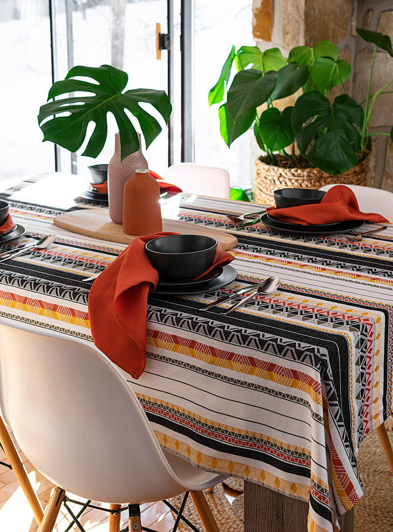 Simons Maison Assorted Ankara jacquard woven cotton tablecloth