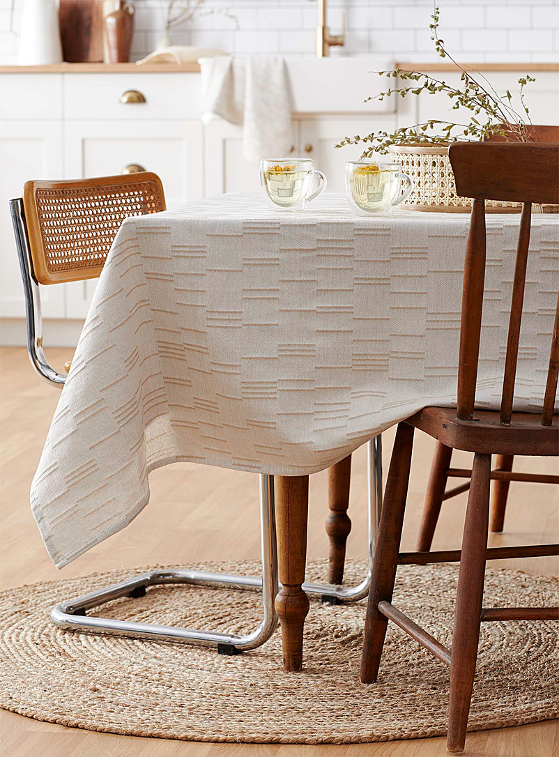 Simons Maison Ecru/Linen Luminous organic cotton tablecloth