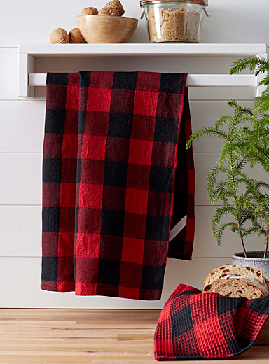 Buffalo check tea towels