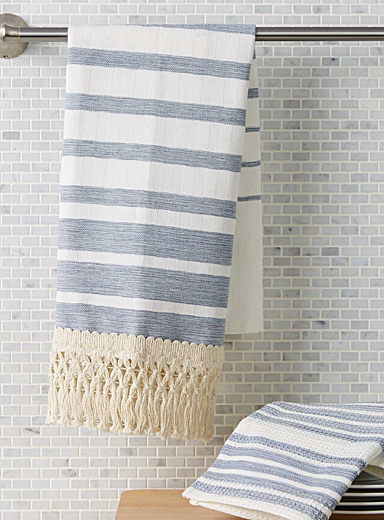 Boho stripe tea towels