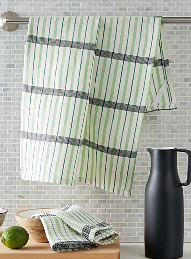 Graphic grass tea towels
