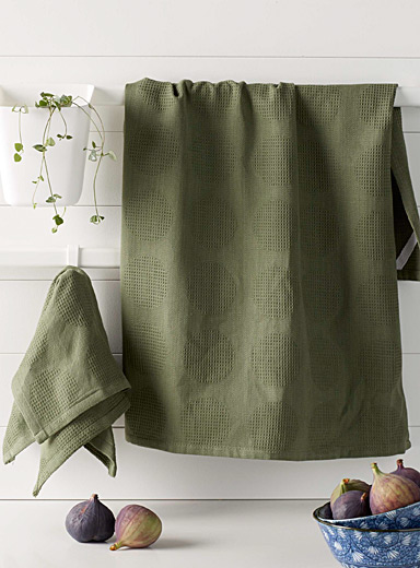Olive disc towels