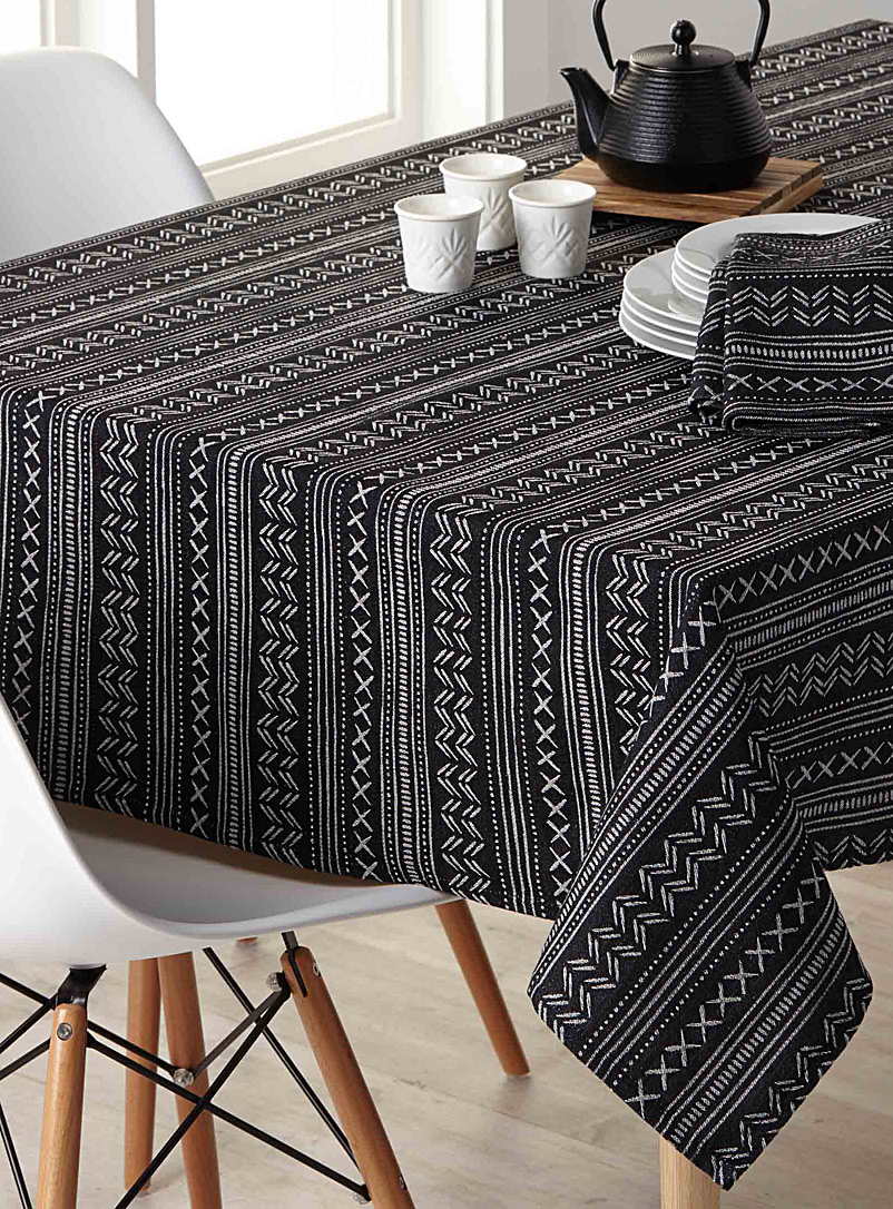 Chalk jacquard woven cotton tablecloth - Woven - Assorted