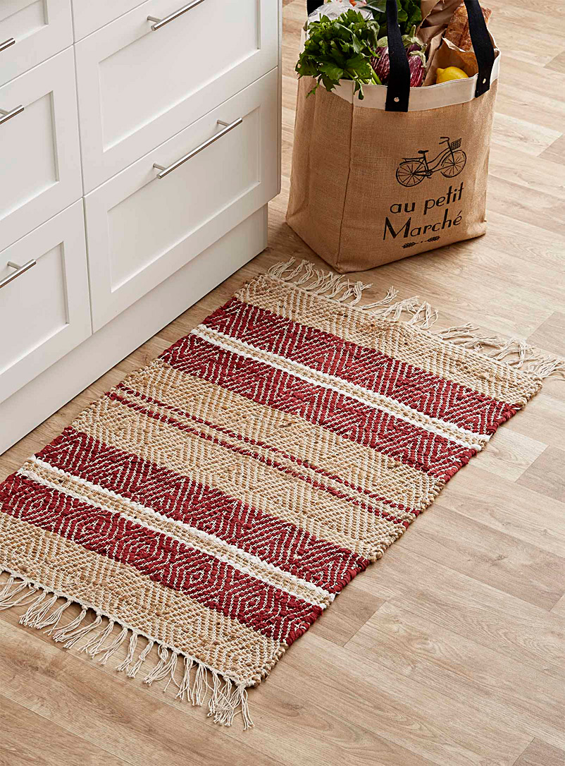 Garnet red jute rug  60 x 90 cm - Small Rugs - Toast