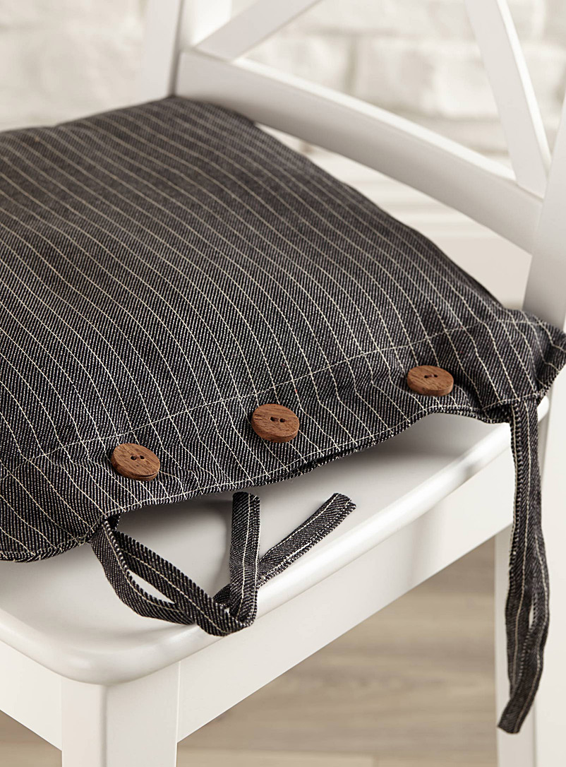 Masculine stripe chairpad  40 x 40 cm - Seat Cushions - Assorted
