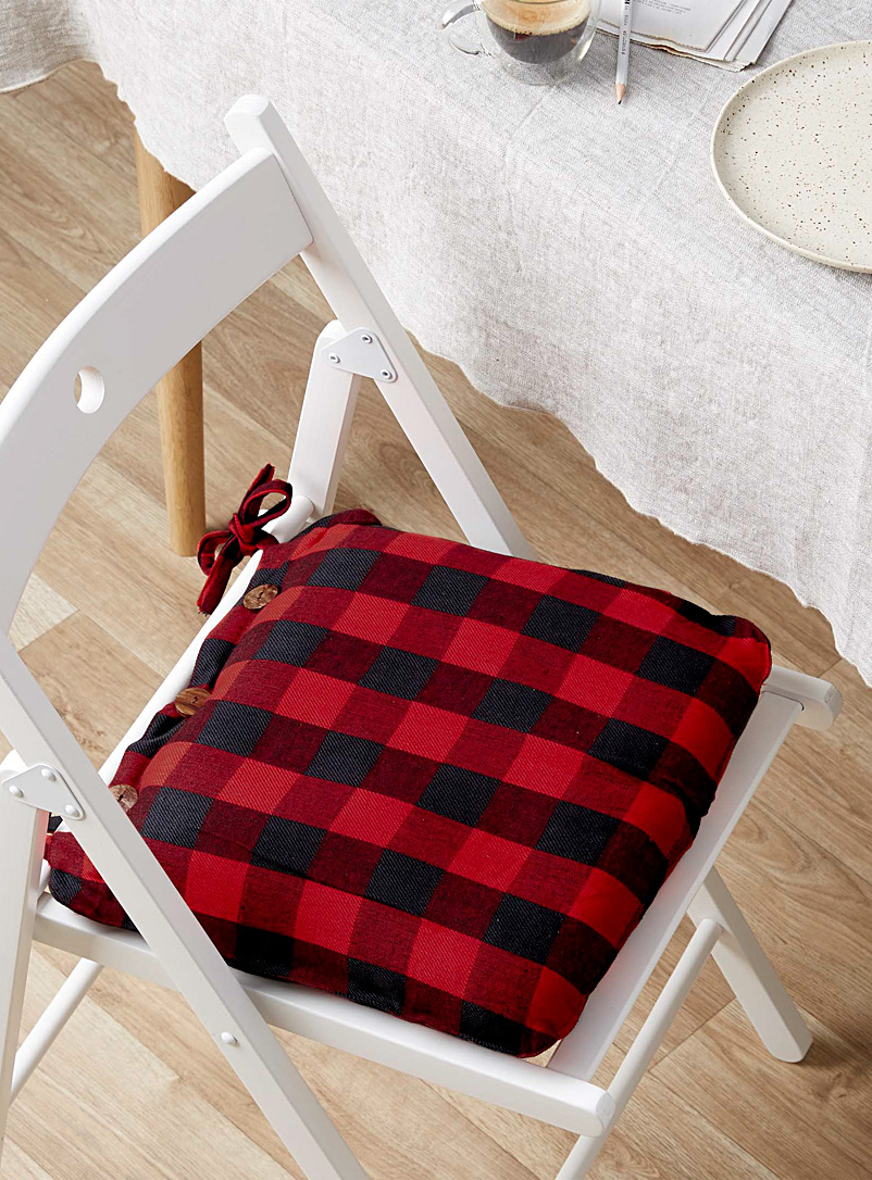 Buffalo check chairpad  40 x 40 cm - Seat Cushions - Assorted