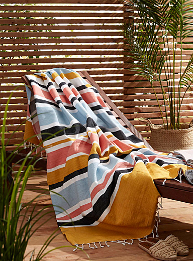 Sun stripe beach blanket 130 x 180 cm