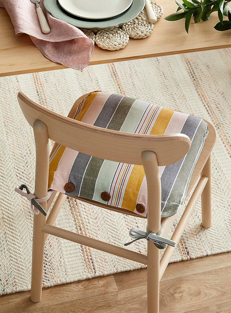 Simons Maison Assorted Light of dawn organic cotton chairpad 40 x 40 cm