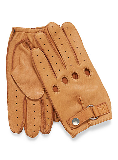 Deer leather driving gloves