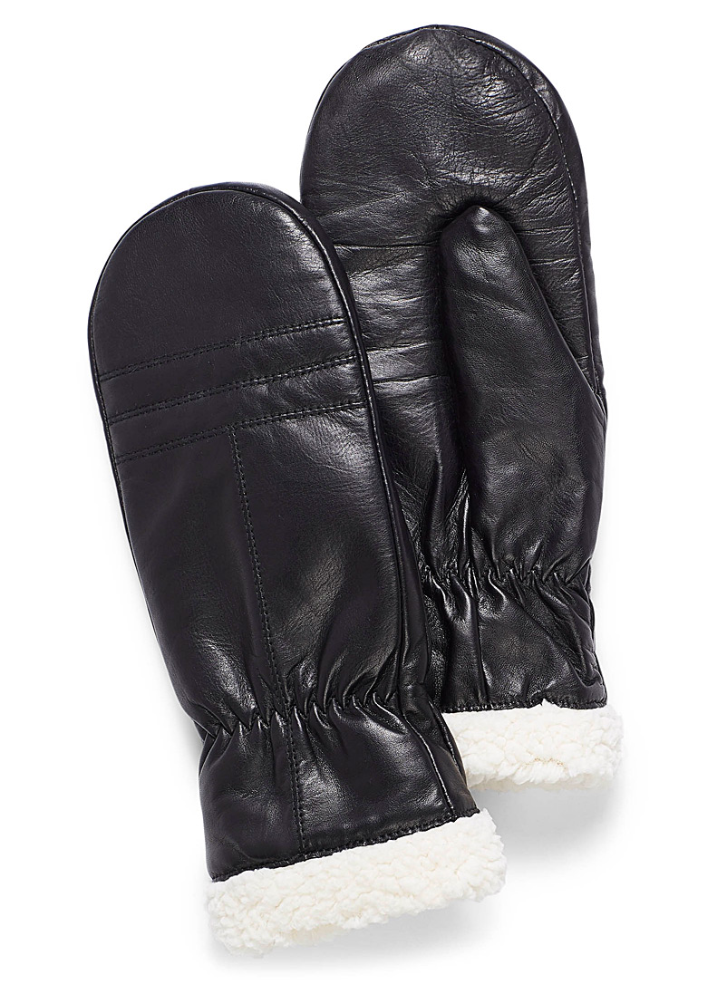 sherpa-leather-mittens