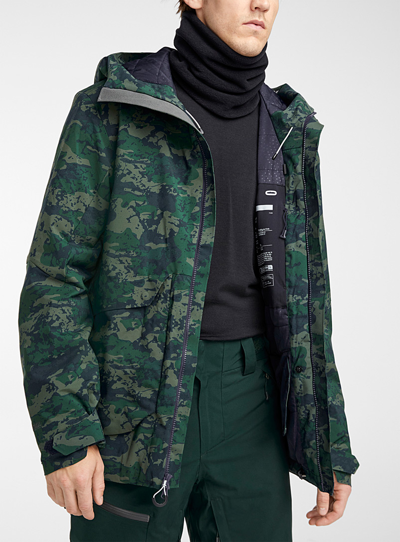 Orage Patterned Green Cypress camo coat Longer fit for men