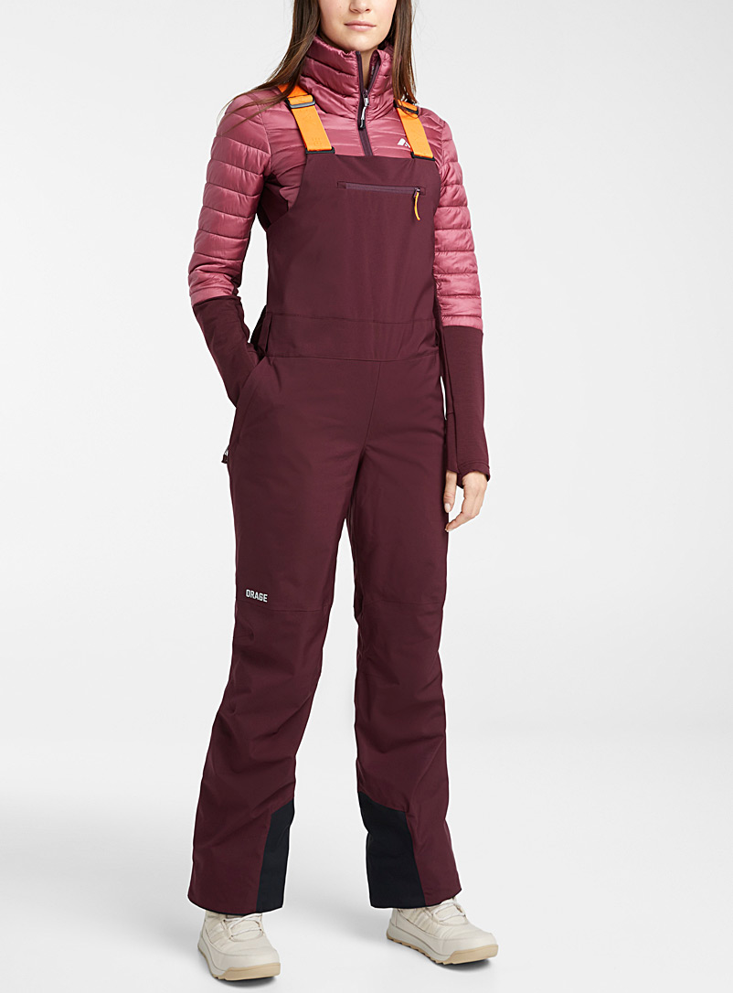 Orage Ruby Red Ridge overalls for women