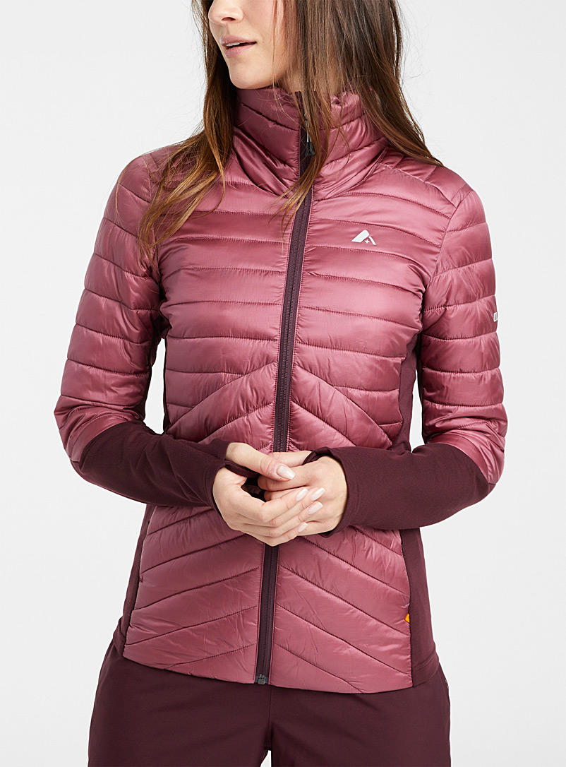 Orage Ruby Red Phoenix quilted jacket for women