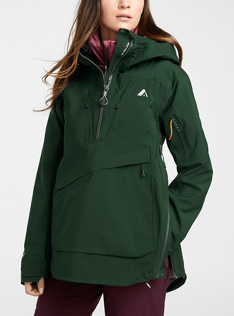 Orage Mossy Green Torngat shell anorak  Regular fit for women