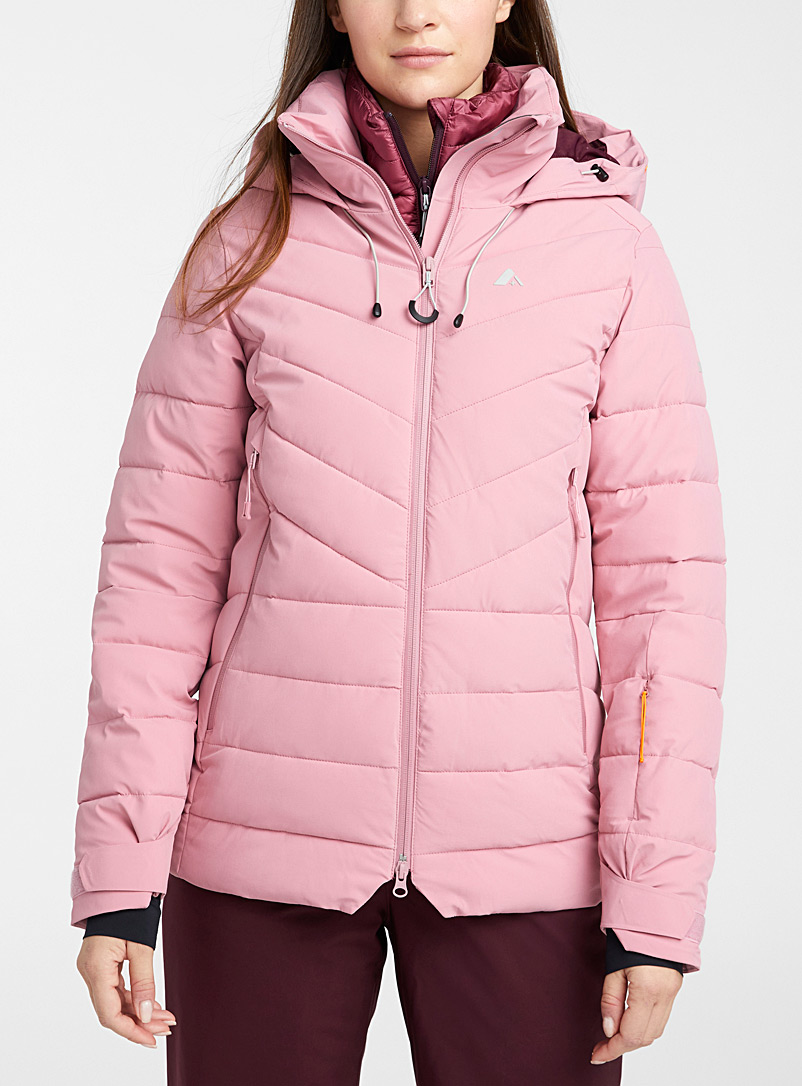 Orage Pink Riya quilted coat  Active fit for women
