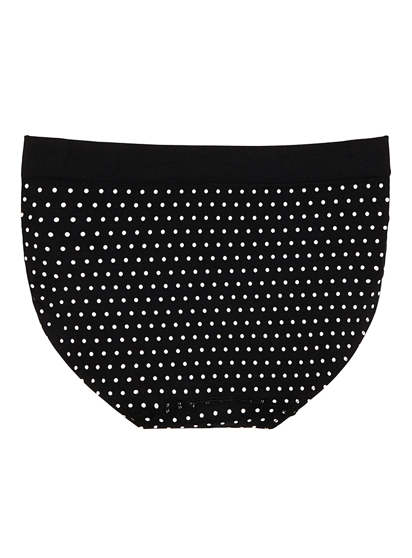Miiyu Black and White Microfibre high-rise panty for women