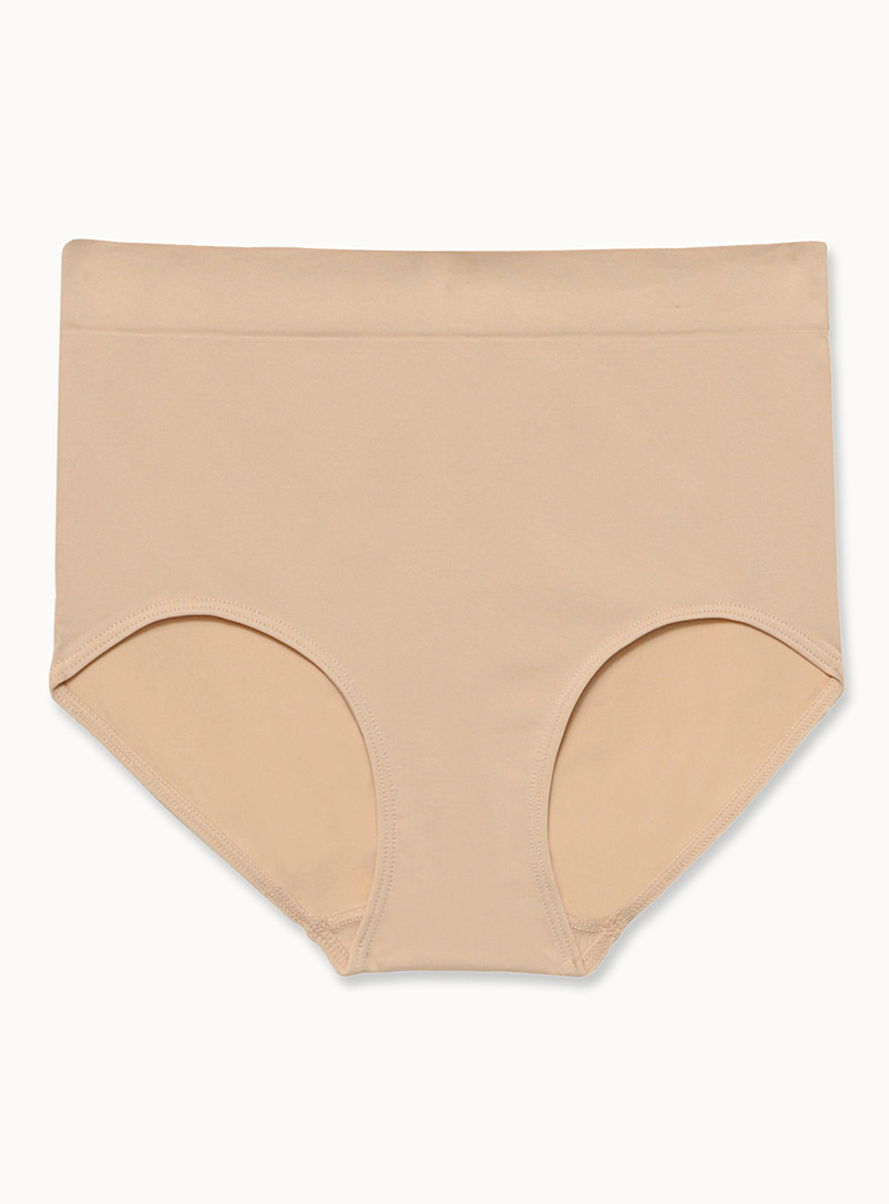 Miiyu Tan Seamless microfibre panty for women