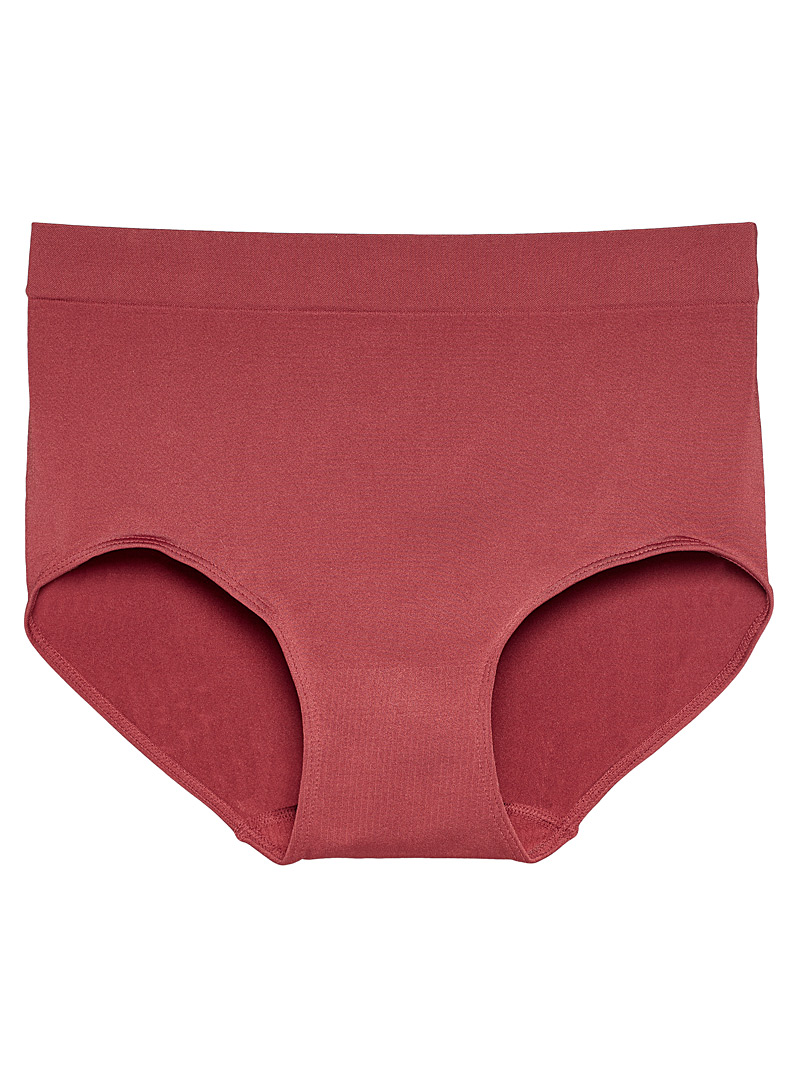 Miiyu Ruby Red Colourful high-waisted microfibre hipster for women