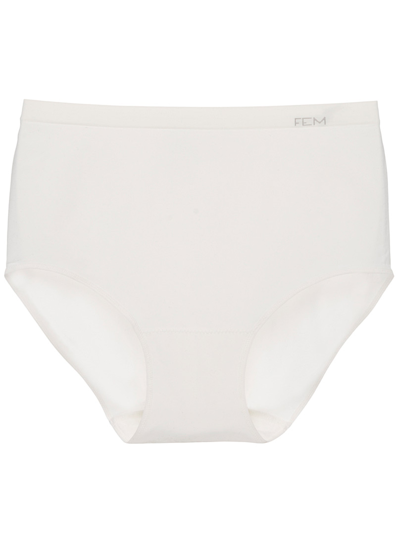 Luxuriously soft panty - High waist - Ivory White
