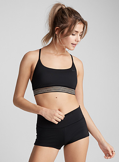 Fine stripe band bralette top