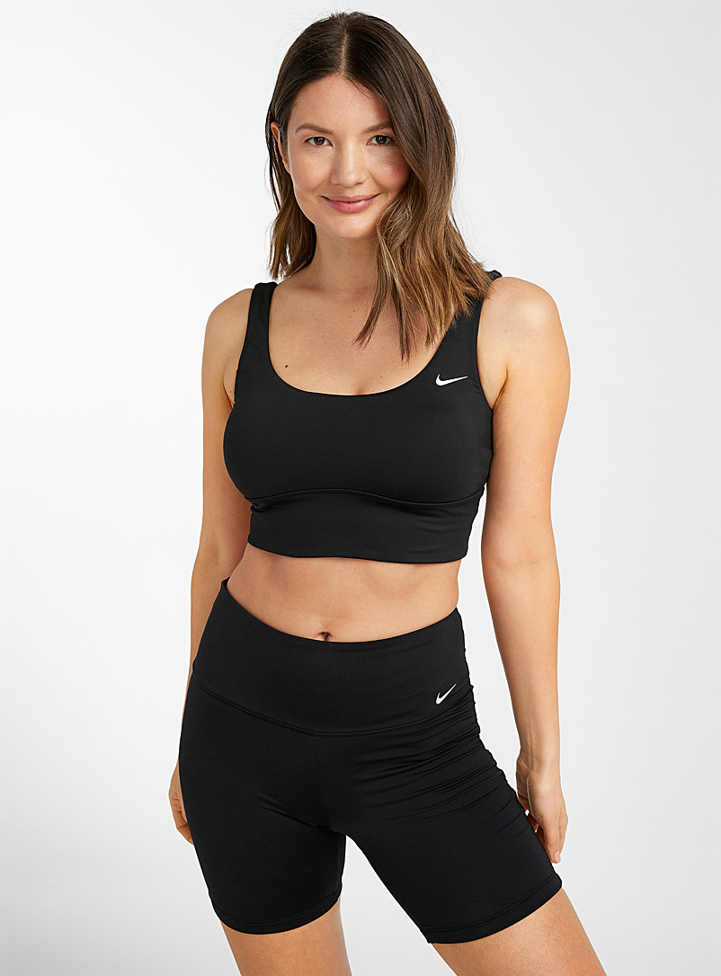 Nike Black Swoosh logo swim bike short for women
