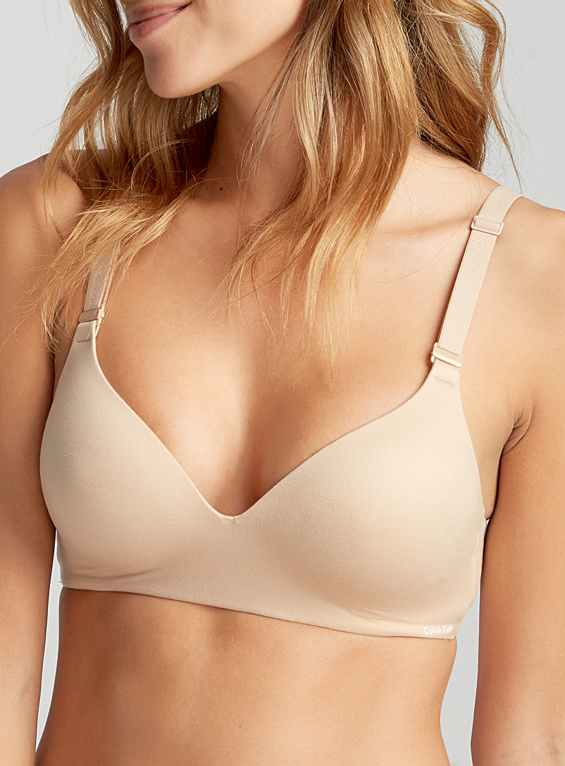 Calvin Klein Tan Ultimate lounge wireless bra for women