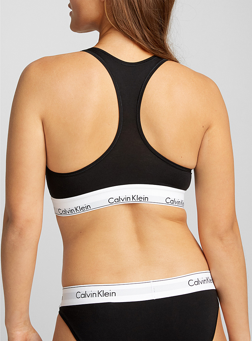 CK signature top - Bralettes - Black