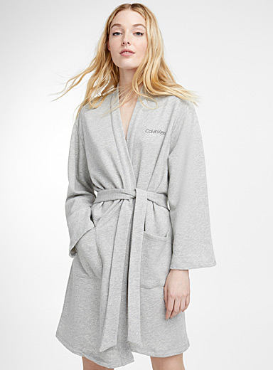 Heather grey robe