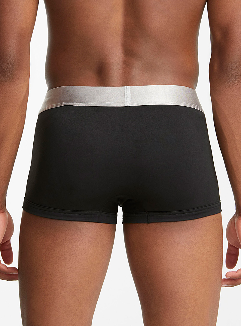 Calvin Klein Black Metallic trunk  3-pack for men