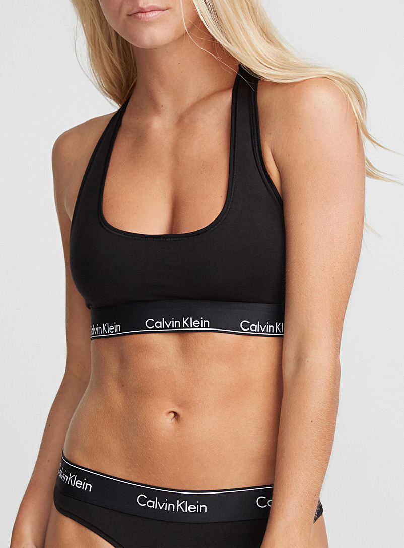 CK athletic bra top - Bralettes - Black