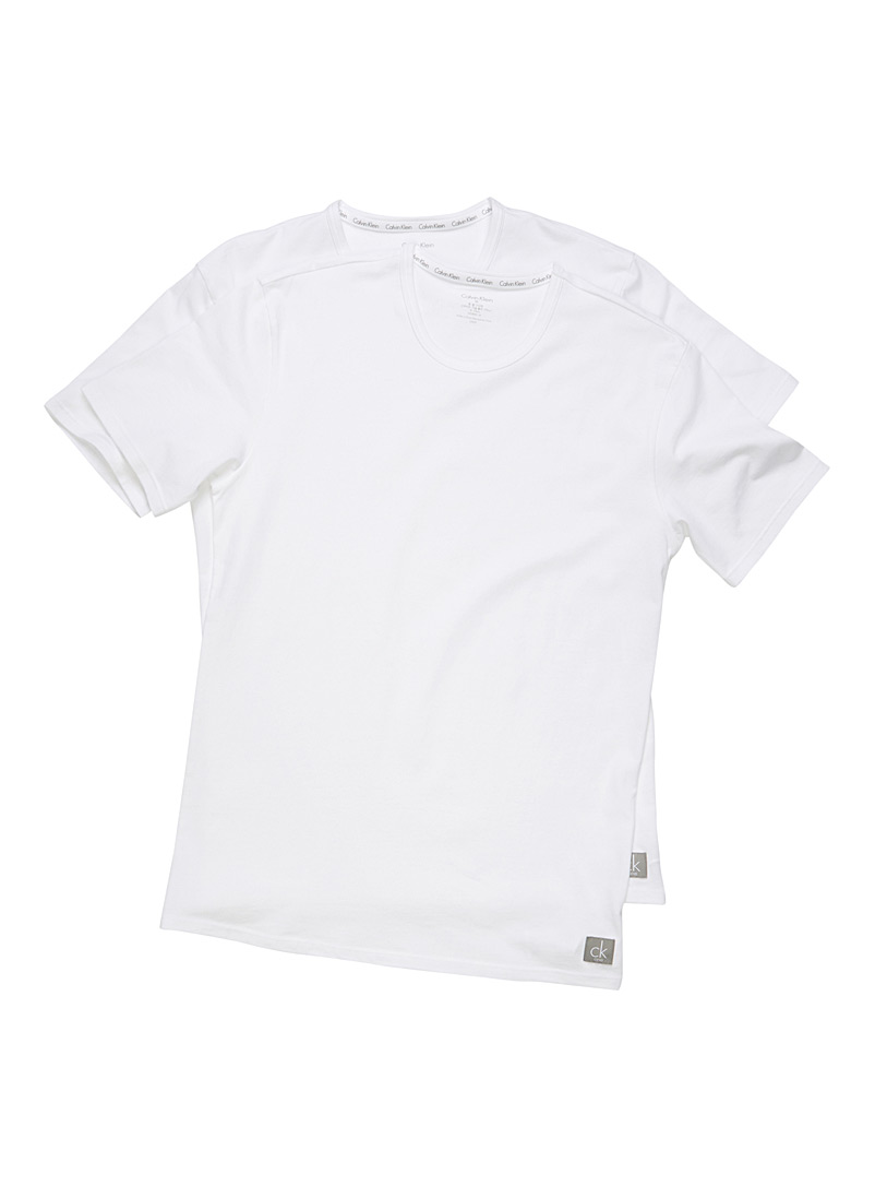 Le duo t-shirts col rond CK One - Camis et tee-shirts - Blanc