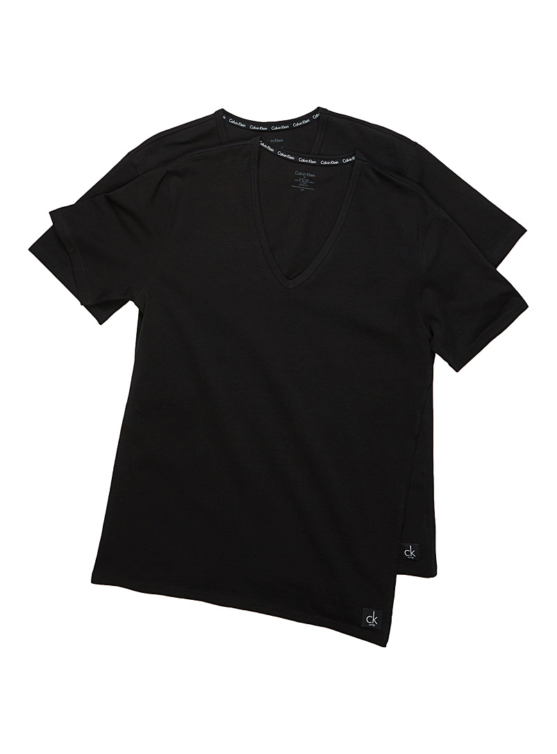Le duo tee-shirts col V CK One - Camis et tee-shirts - Noir