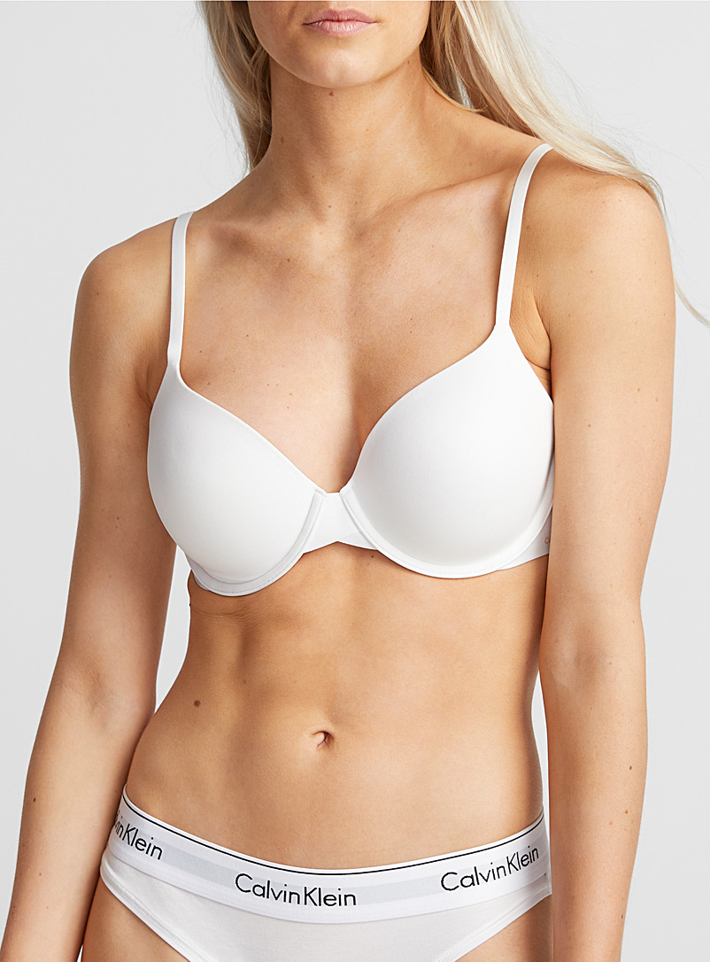 Calvin Klein Black Discreet plunge bra for women