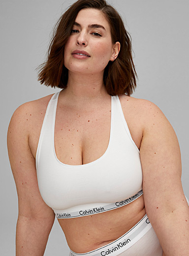 Sporty cotton modal bralette Plus size