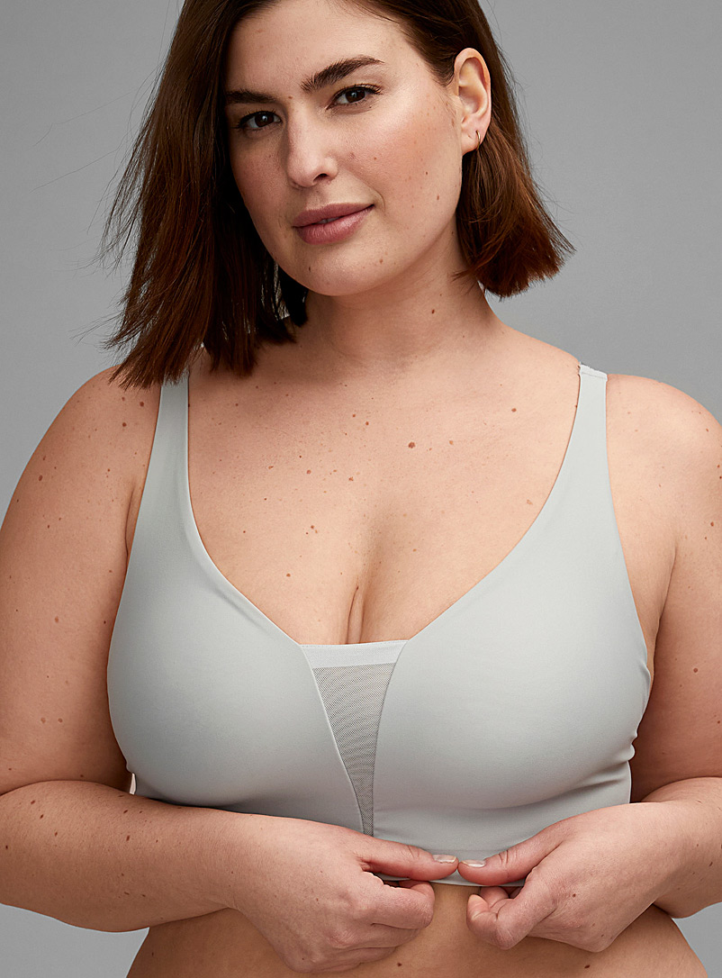 Calvin Klein Baby Blue Mesh triangle bralette Plus size for women