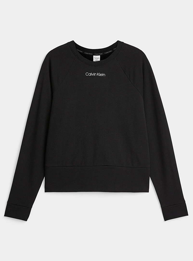 Calvin Klein Black Essential lounge sweatshirt for women