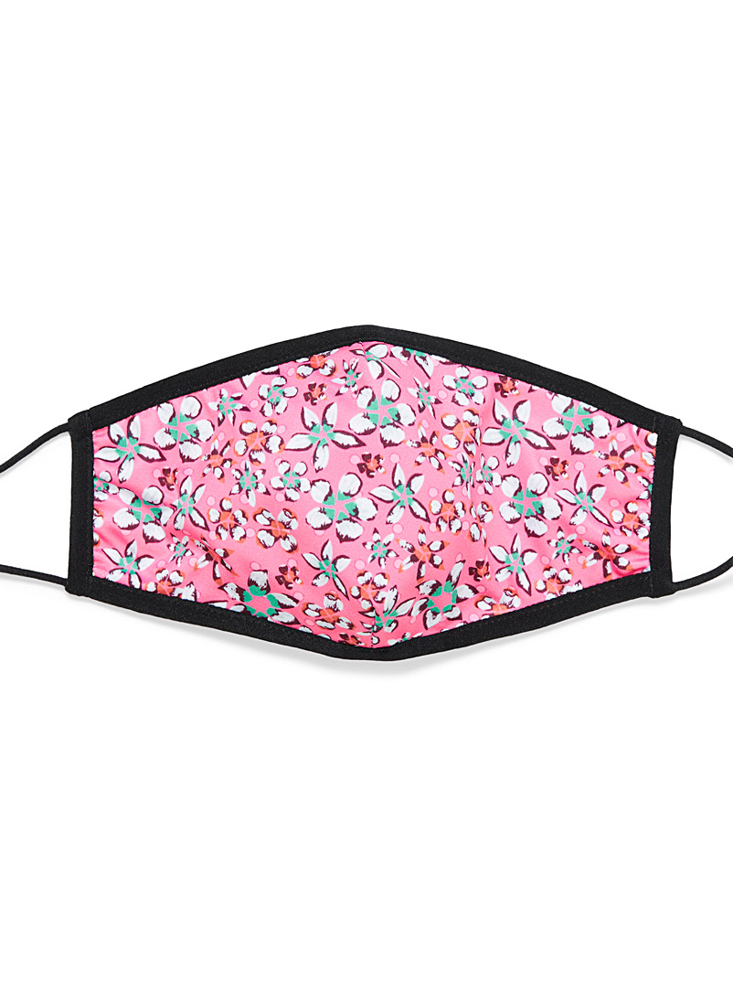 Simons Patterned Red Printed antibacterial fabric mask for women