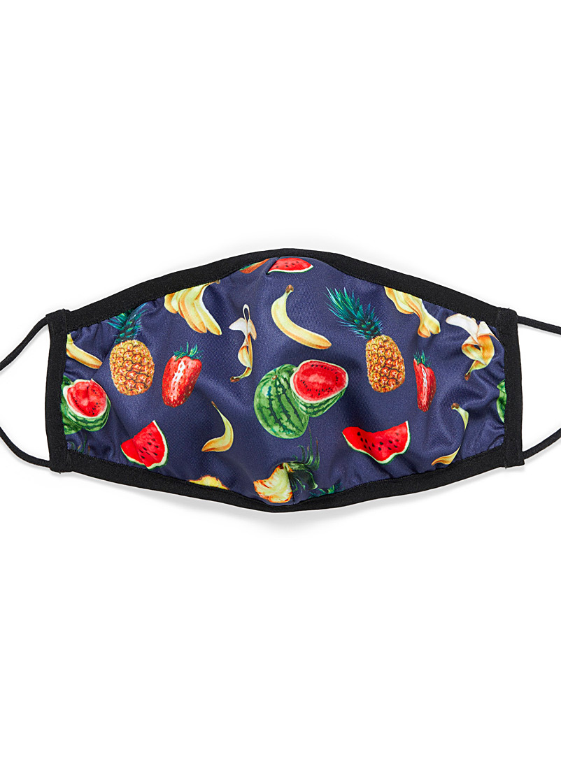 Simons Patterned Black Printed antibacterial fabric mask for women