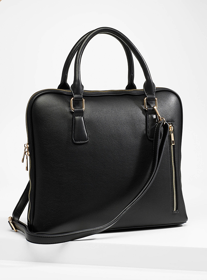 Simons Black Shoulder strap briefcase for women