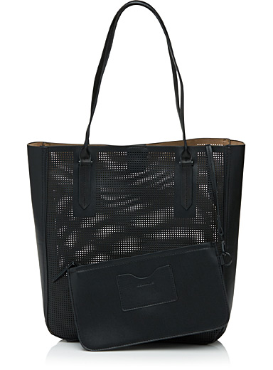 Perforated tote and clutch