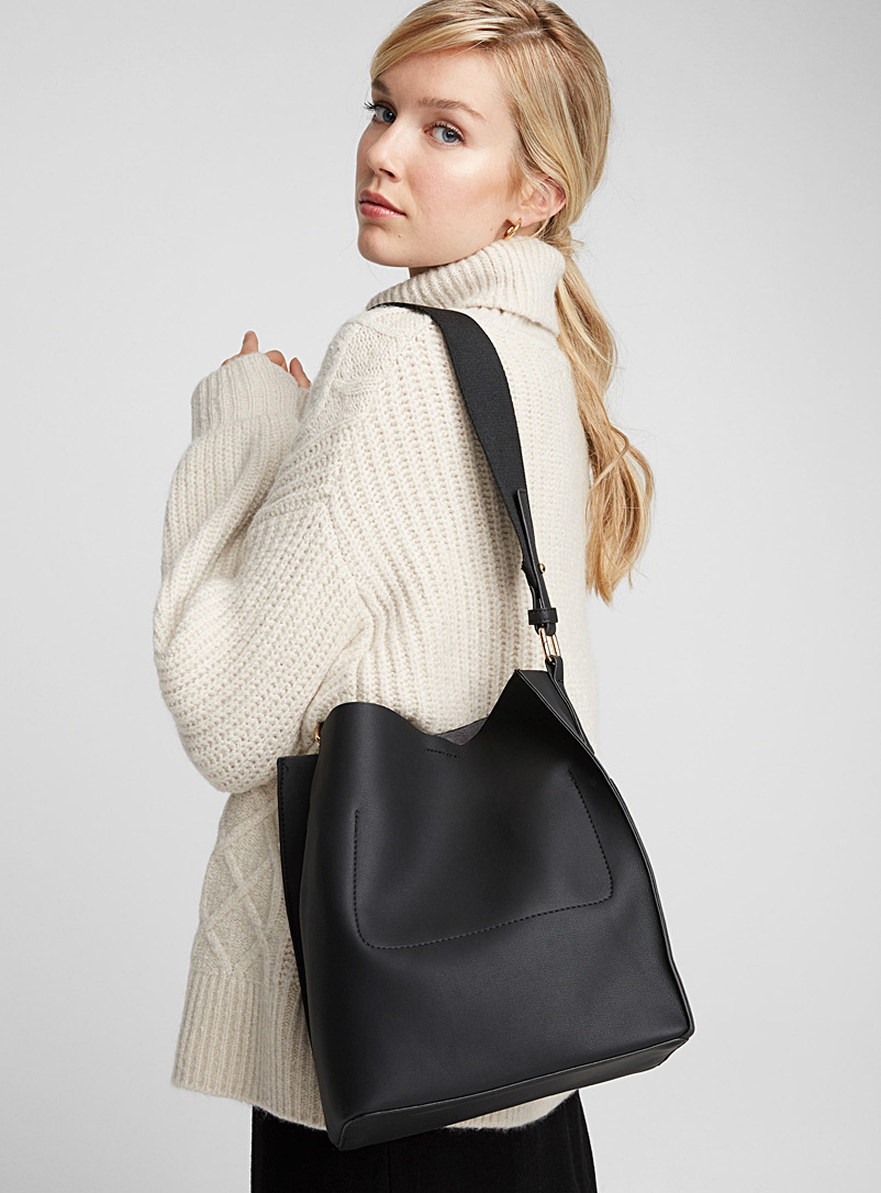 Simons Fawn Canvas strap tote and clutch for women