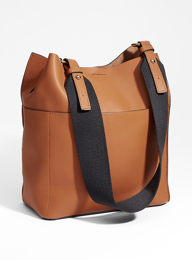 Simons Fawn Canvas-strap tote and clutch for women