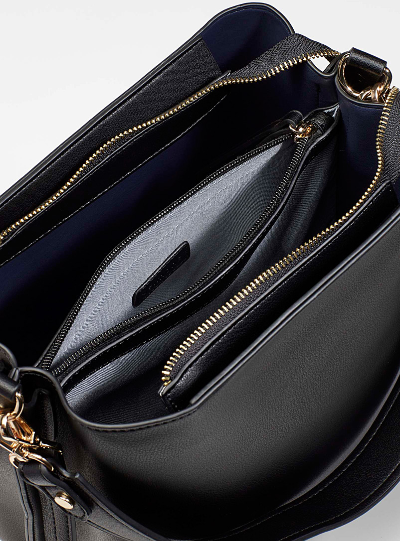 Simons Black Shoulder bucket bag for women