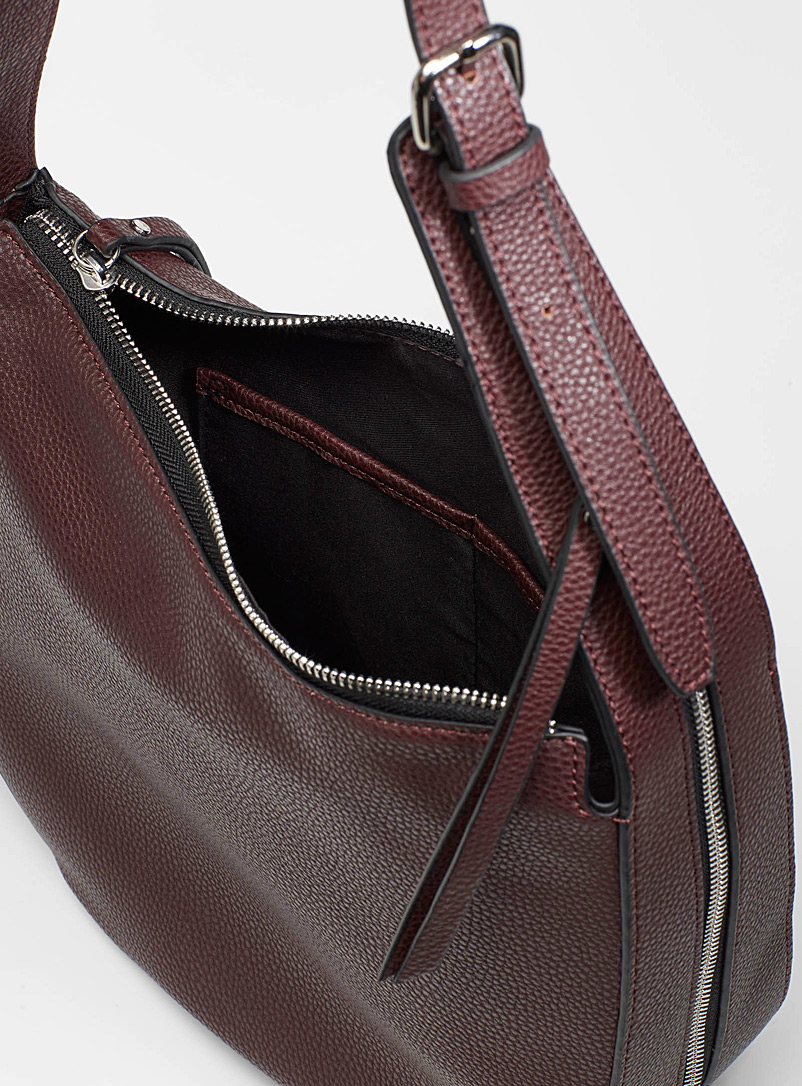 Simons Copper brown  Faux-leather saddle bag for women