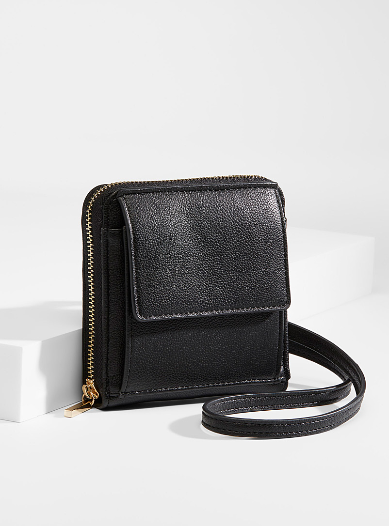 Simons Black Square wallet bag for women