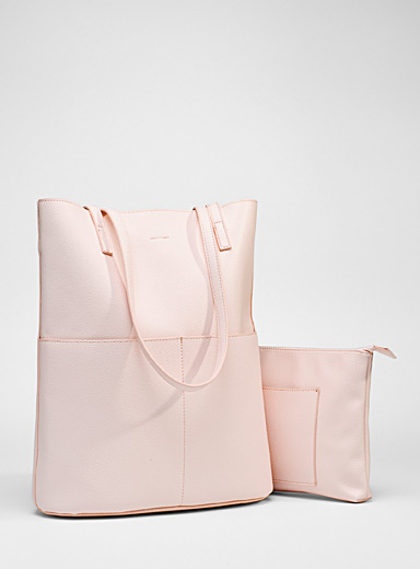 Trapeze tote and clutch